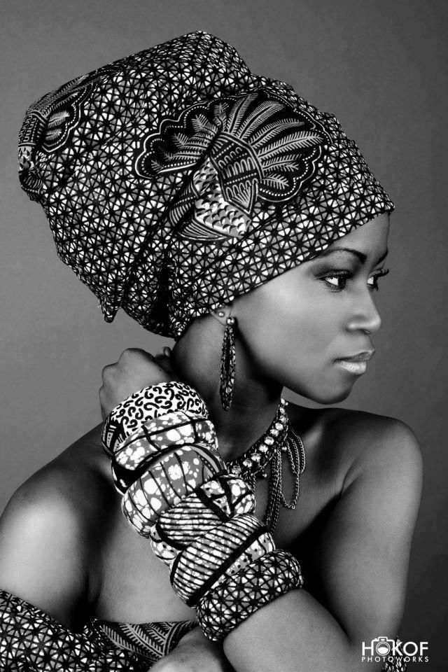 beautiful | black woman | headdress | portrait | photography                                                                                                                                                      More