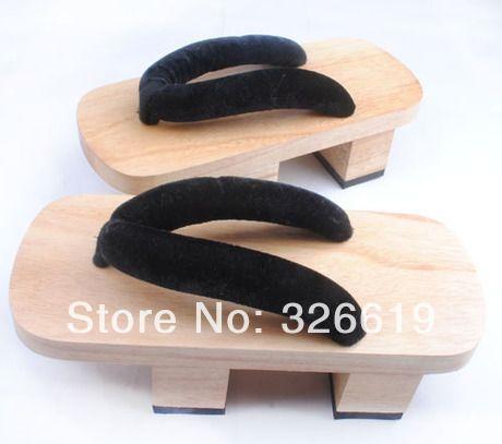 Бесплатная доставка япония сабо сплошной свободного покроя корк стадо ретро аномальные туфли на каблуках деревянные вьетнамки туфли косплей сабо