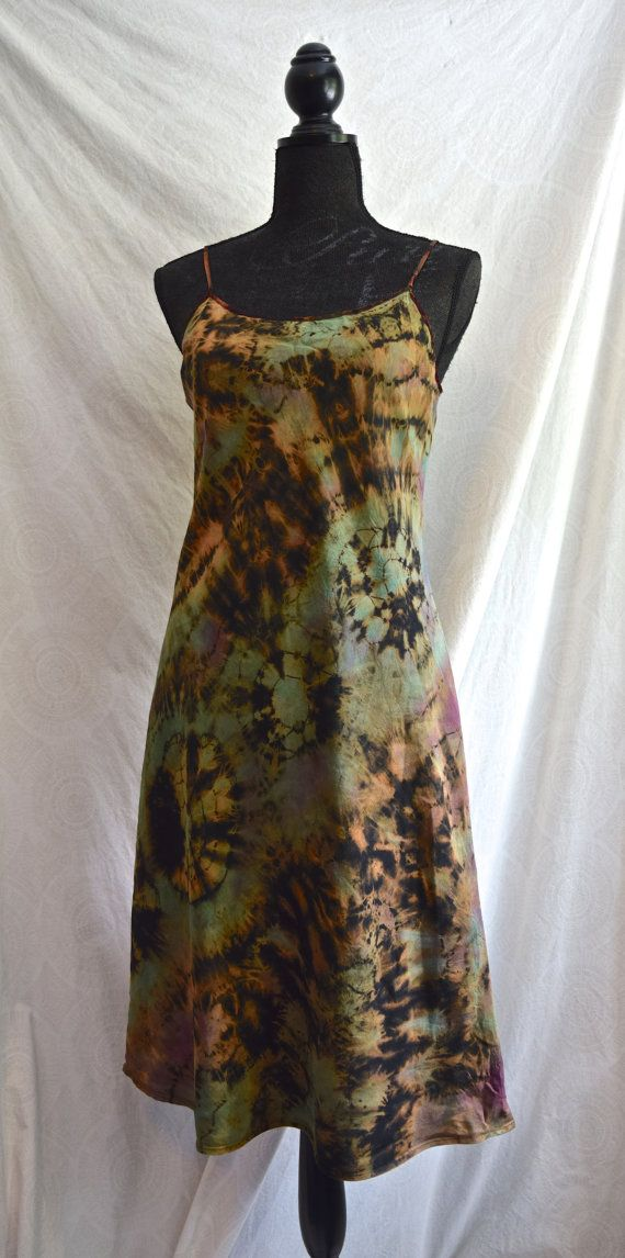 Earth Fire Upcycled Inverse/Reverse Tie Dye by PorchOpossumArt