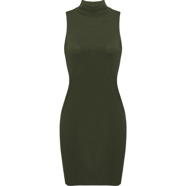 Yoins  High-necked Sleeveless Bodycon Mini Dress (£9.46) ❤ liked on Polyvore featuring dresses, yoins, black, bodycon dress, short dresses, high neckline dress, short bodycon dresses and body con dress