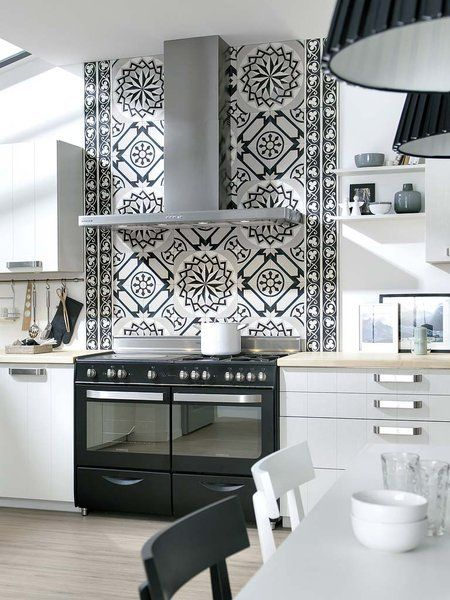 25 best ideas about blanco y negro on pinterest white - Baldosa hidraulica cocina ...