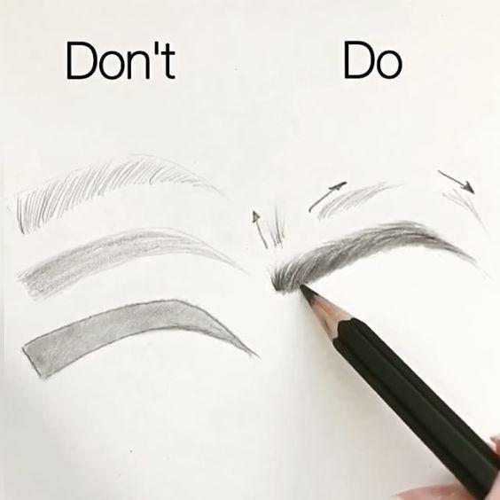 Beachten Sie diese allgemeinen Richtlinien, wenn Sie Ihre Augenbrauen füllen.
