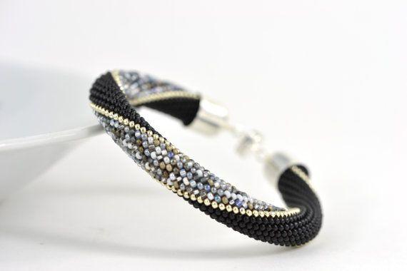Nebligen London  Silber Armband klassische Bead Crochet