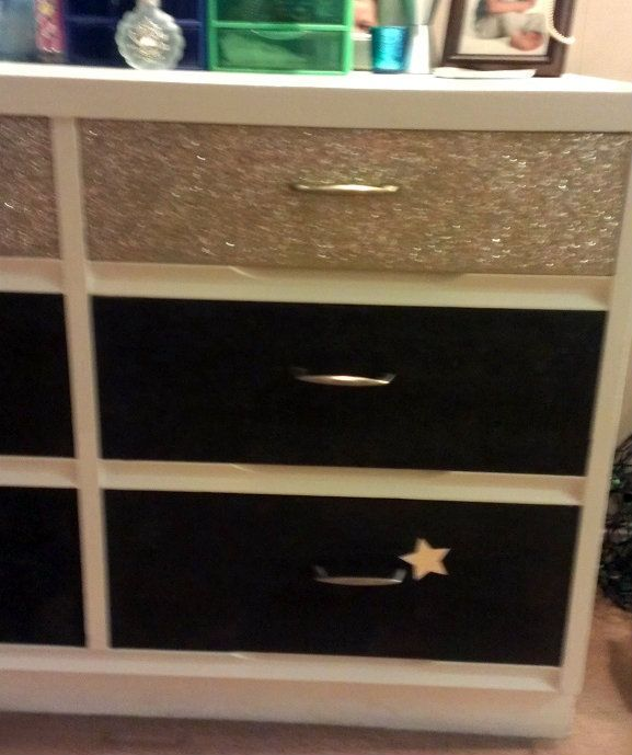 pics of furniture glittered | Glitter Dresser :) ∙ Creation by jami.warrick82 on Cut Out + Keep