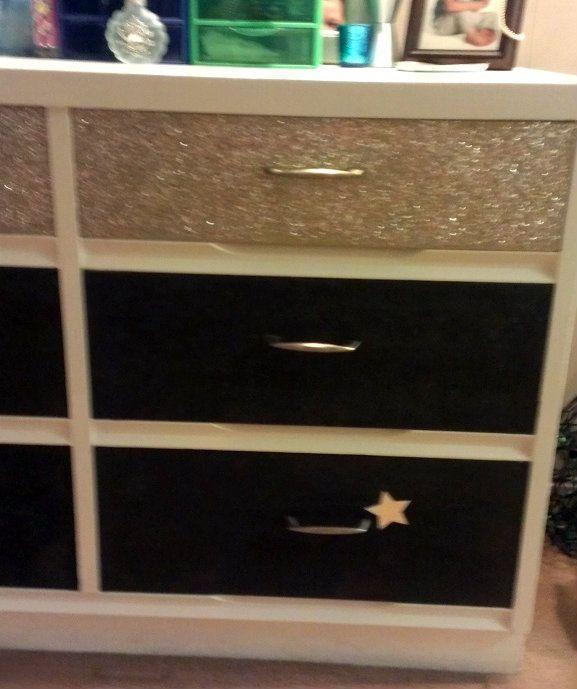 pics of furniture glittered | Glitter Dresser :) ∙ Creation by jami.warrick82 on Cut Out + Keep