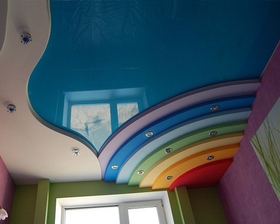 Rainbow ceiling for kid's room