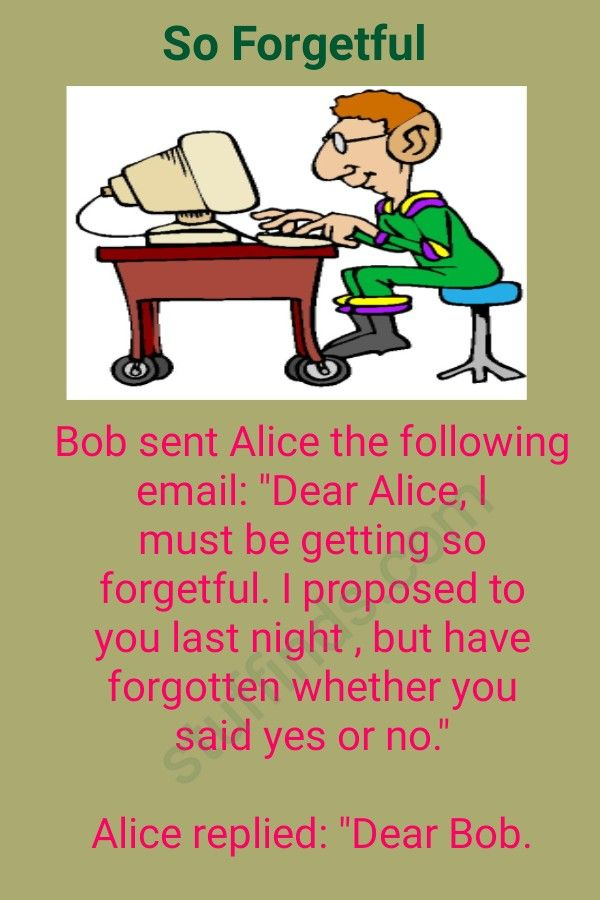 So Forgetful Funny Stories Funny Jokes Jokes