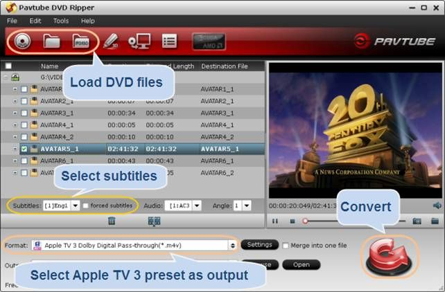 Stream DVD to Apple TV 3 with Dolby Digital 5.1 surround