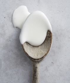 Get the recipe for Easy Royal Icing.  Uses egg whites, not meringue powder.