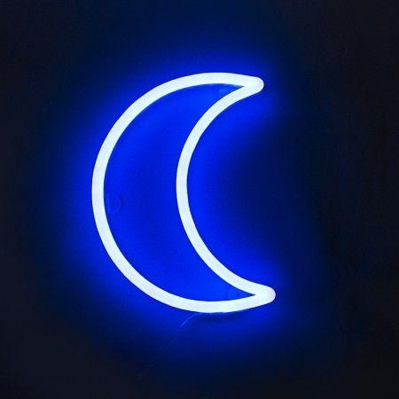 Wandleuchte Neon Mond blau  Dieser #Neuankömmling ist ein echter #Trendsetter! Absolut #hip verneigt sich diese #Leuchte vor den altbekannten #Neonröhren. Abgerundet wird das tolle #Design durch seine tolle #Farbgebung und seine #Form. Diese #Leuchte ist garantiert ein #Hingucker. #QAZQAx Silberblau #Kollektion! Sie mögen es lieber etwas ruhiger? Dann ist diese #Mondsichel genau das richtige für Sie!