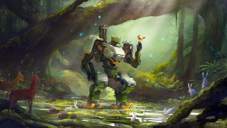 Bastion Overwatch Game Art Wallpaper In 2020 Overwatch Wallpapers Overwatch Bastion Overwatch