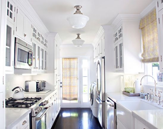 1000 ideas about galley kitchen design on pinterest for Small galley bathroom ideas