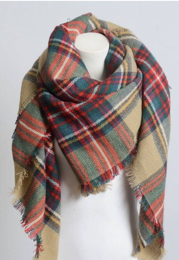 Flannel Blanket Scarf With Images Plaid Blanket Scarf Blanket