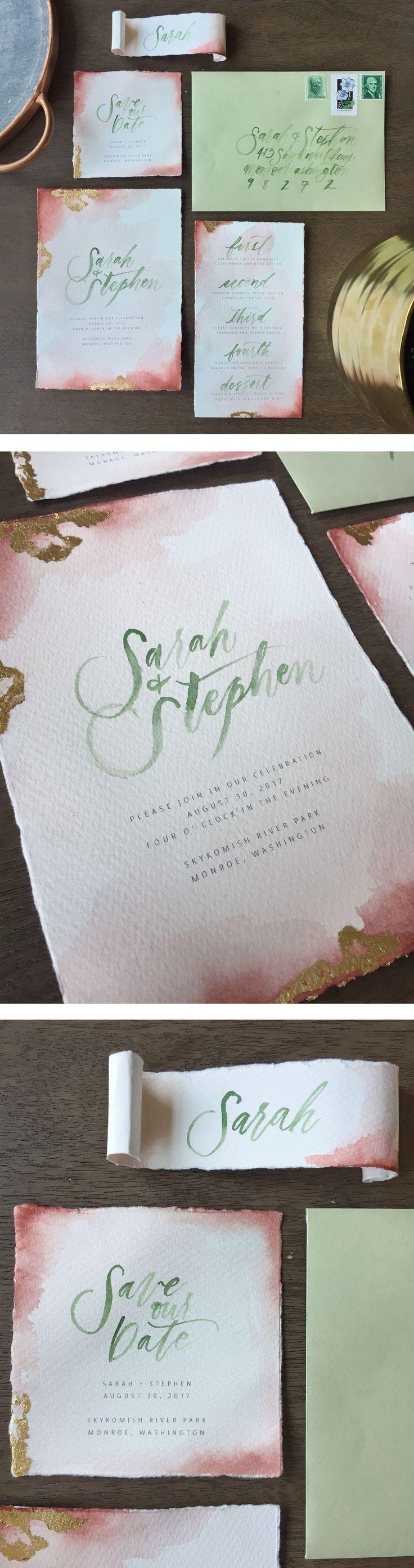 Boho Inspo Watercolor Invitation Suite    Rock and Stone Weddings    Joanna Monger Photography