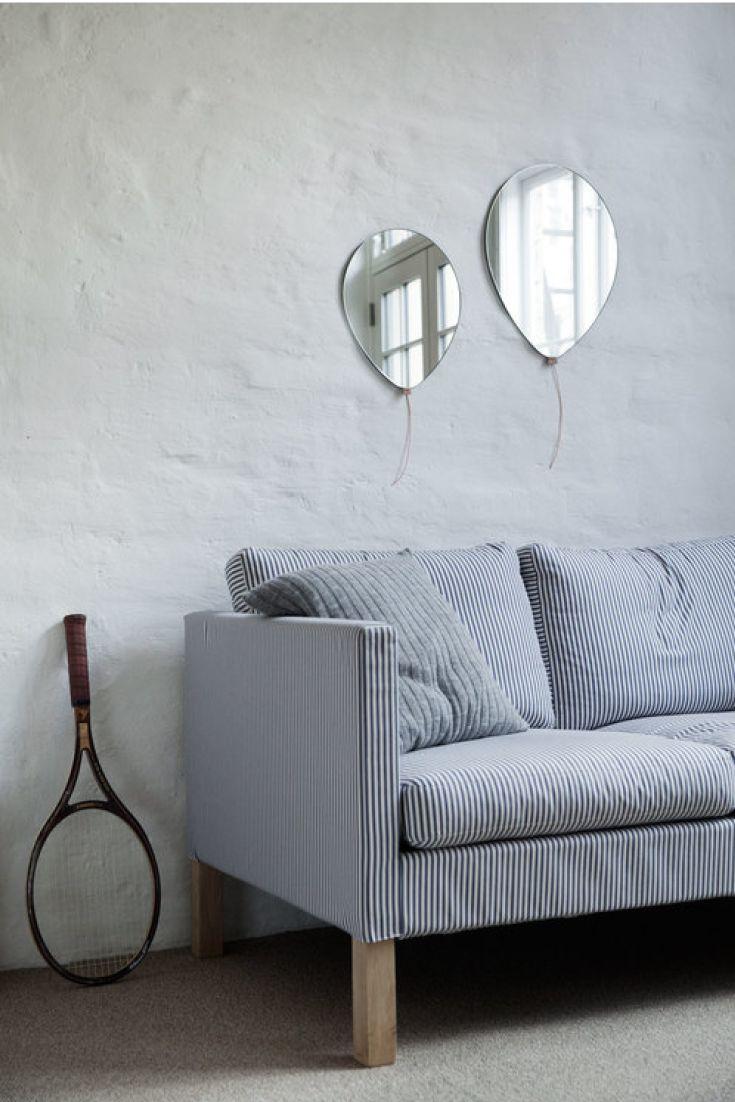 Skønt elegant spejl formet som en ballon fra EO Elements Optimal.