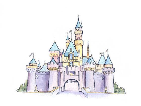 Disneyland Watercolor Castle Print Sleeping Beauty S Castle Disney Watercolor Painting Instant Download 5x7 8x10 11x14 Watercolor Disney Disneyland Castle Disney Castle Drawing