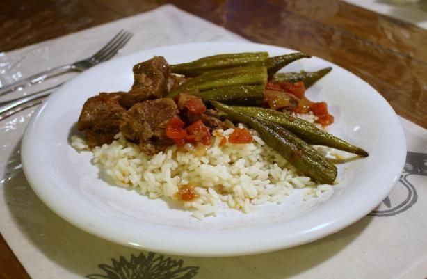 Bamya Lamb Or Beef And Okra Stew) Recipe - Food.com - 14739: I am becoming quite the cook! I love it