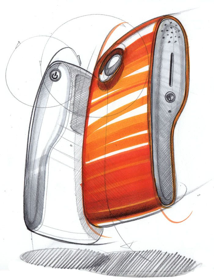 Sketch-a-day: industrial design copic marker and prismacolor drawing by Spencer Nugent