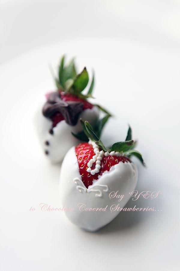 Sugar Coated Kitchen   Chocolate Covered Strawberries - Wedding Dress & Tuxedo