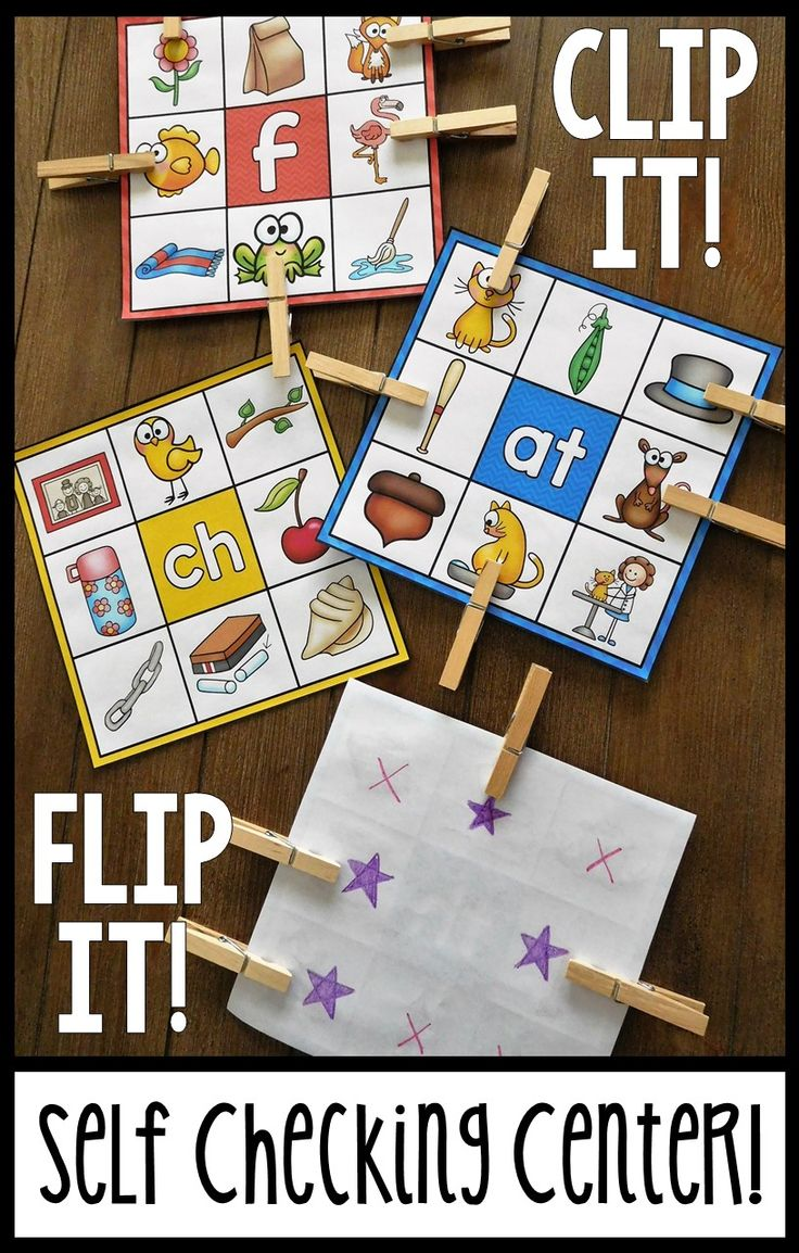LOVE this self checking station for tons of phonics skills - beginning sounds, word families, syllables, and more!