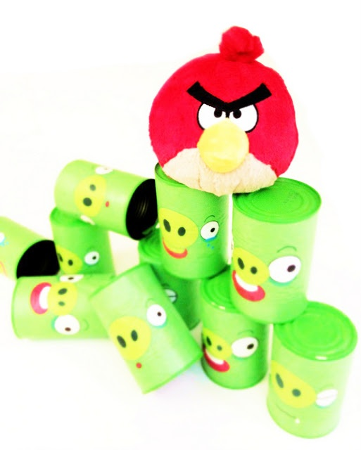 FREE Angry bird soup can printables (so I don't have to hand paint all of those piggies!)