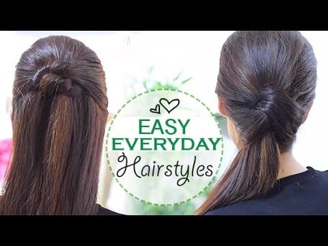 Easy everyday hairstyles - YouTube