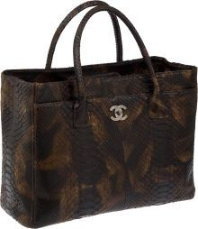 Luxury Accessories:Bags, Chanel Extremely Rare Python Oversize Executive Tote Bag withPouch. ... (Total: 1 Items)