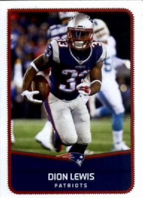 2016 Panini NFL #49 Dion Lewis New England Patriots Football Sticker