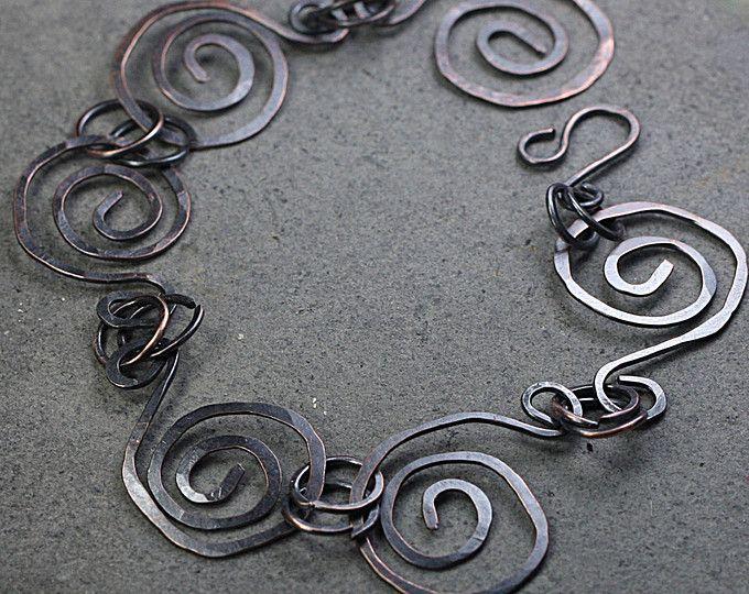 Braccialetto a spirale di rame monili di rame