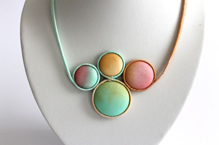 Hand dyed silk jewelry by Koria Design  https://www.etsy.com/listing/179147419/hand-painted-silk-statement-necklace?ref=related-0 www.facebook.com/koriadesign