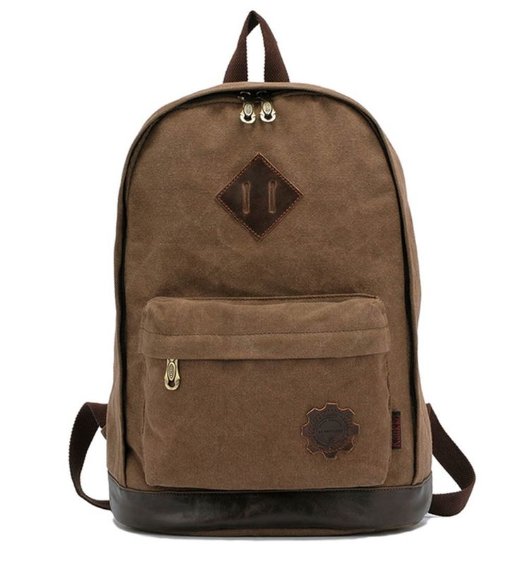 iBaste mochila escolar / mochila lona/ morral de la taleguilla /bolso de hombro /ordenador portátil Bolsas (caqui)