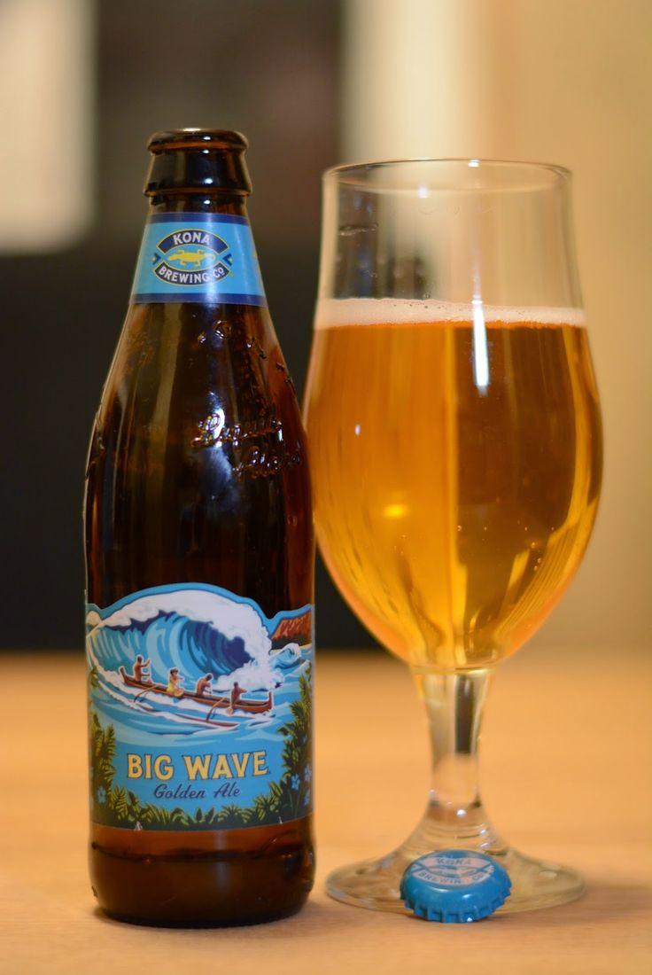 Kona Brewing Co. // Big Wave Golden Ale 4.4% ABV. Hops: Galaxy & Citra.