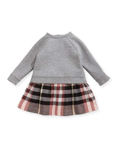 971236d577c7 K0QPW Burberry Francine Sweatshirt Check Dress