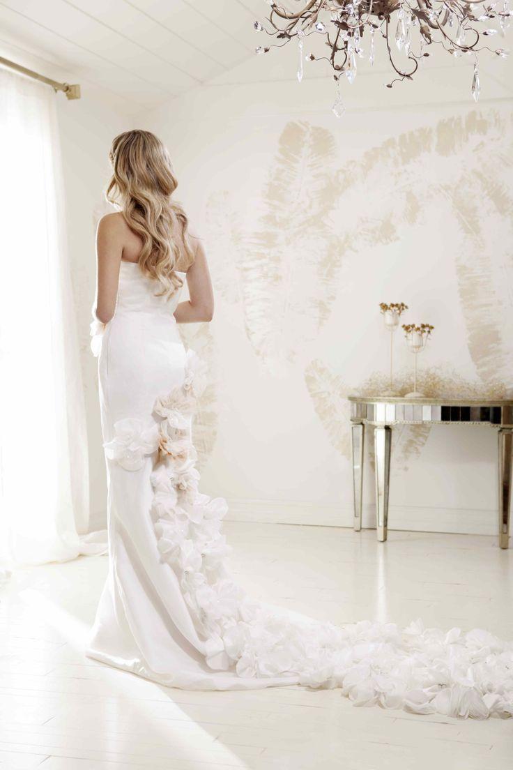 """V. SOUZ """"Elizabeth"""" dress.  Beautiful silk organza flowers as you walk !"""