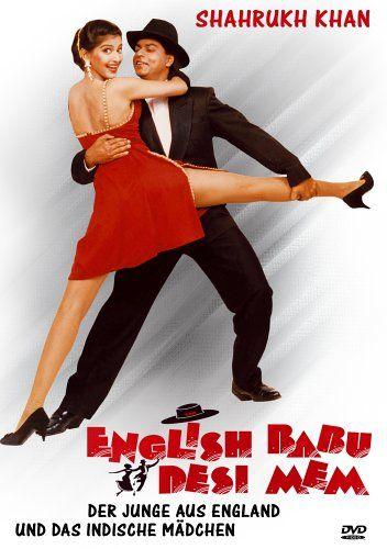 Shah Rukh Khan and Sonali Bendre - English Babu Desi Mem (1996) - German edition
