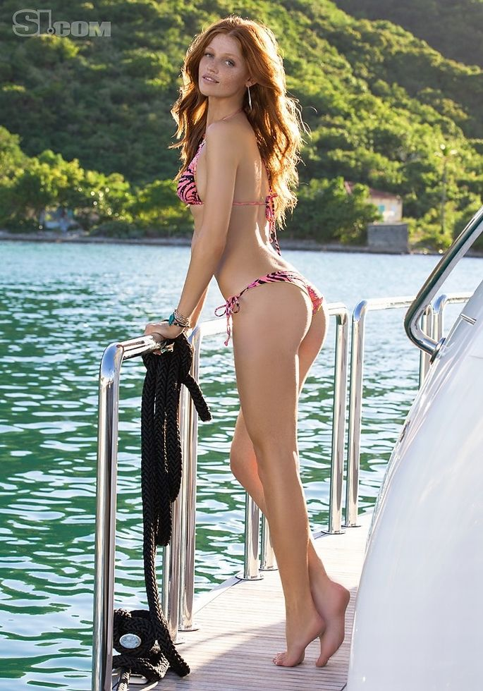 bikini women Red head