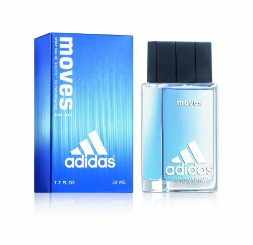 Adidas Moves By Adidas For Men. Eau De Toilette Spray 1.7 Oz by adidas. Save 13 Off!. $16.99. This item is not for sale in Catalina Island. Packaging for this product may vary from that shown in the image above. A sweet and spicy scent based around a blend of mandarin, geranium and sandalwood, and accented by black pepper, tomato leaves, parsley, peppermint, green apple, soft lavender and woods. A refreshing and alluring fragrance for men.