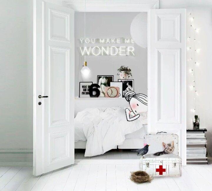25 beste idee n over witte kamers op pinterest foto muren fotowand en fotowanden - Moderne witte kamer ...