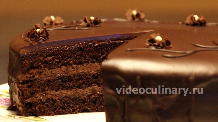 Простой шоколадный бисквитный торт - Рецепт Бабушки Эммы