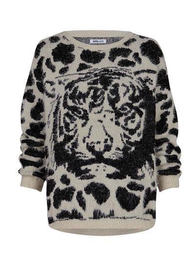 Tiger jacquard jumper