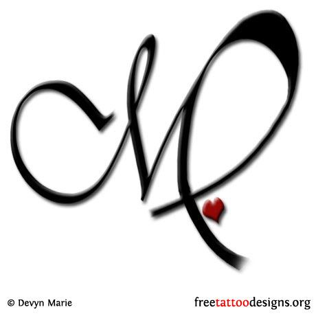 Virgo and heart tattoo design
