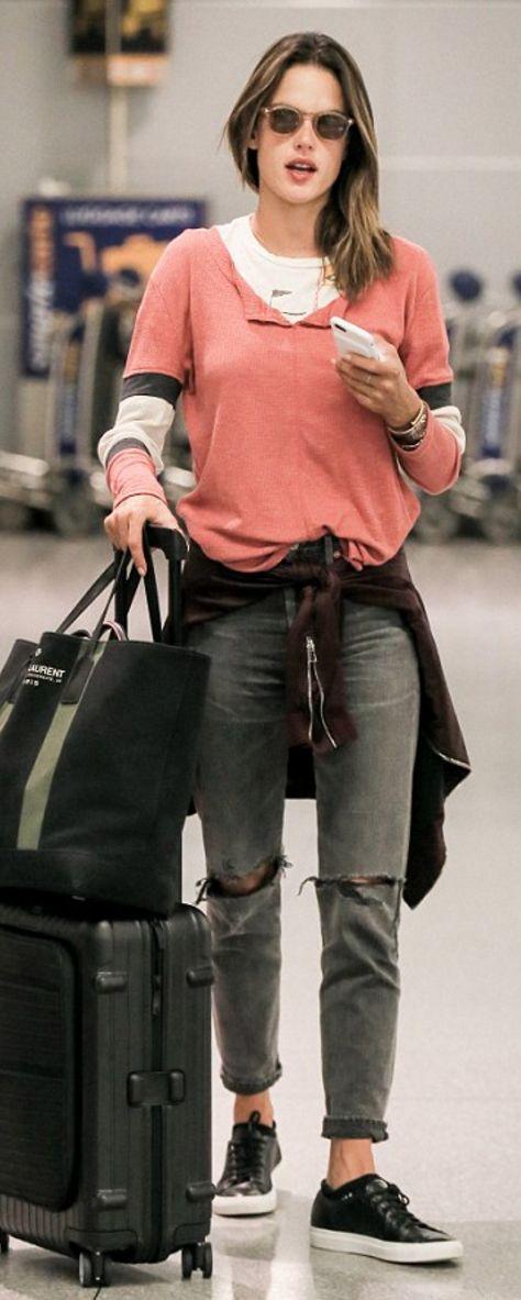 Alessandra Ambrosio: Shirt – Vintage Havana  Shoes – Common Projects  Purse – Saint Laurent