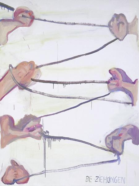 Maria Lassnig, Be-ziehungen I, 1992.