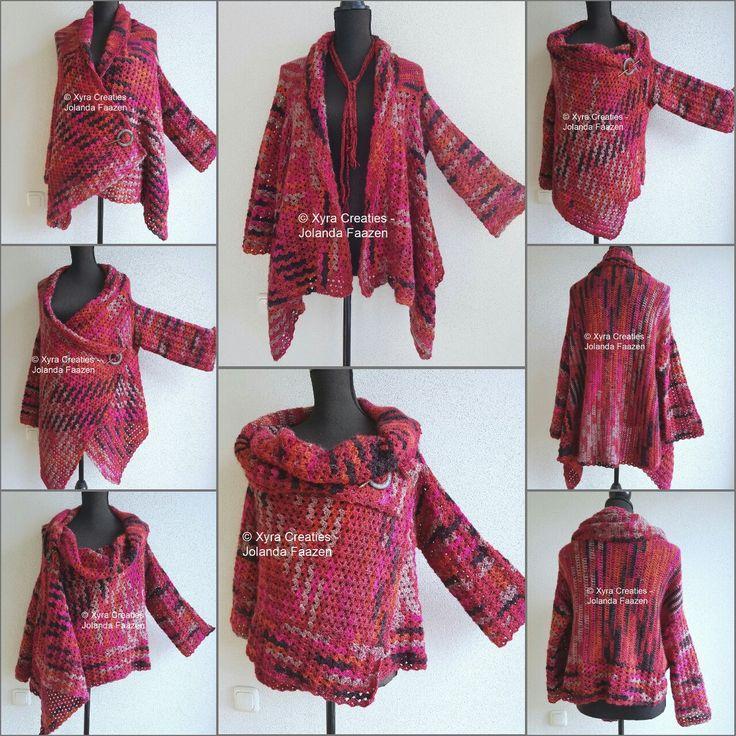 #PATR1106 #vest #upsidedown #ondersteboven #shirt #cardigan #sweater #haakpatroon #patroon #haken #gehaakt #crochet #pattern #DIY #sleeves #mouwen #mouw #sleeve  Patroon (NL) is beschikbaar via: Pattern (English-US) is available at: www.xyracreaties.nl  www.ravelry.com/stores/xyra-creaties  www.etsy.com/shop/XyraCreaties