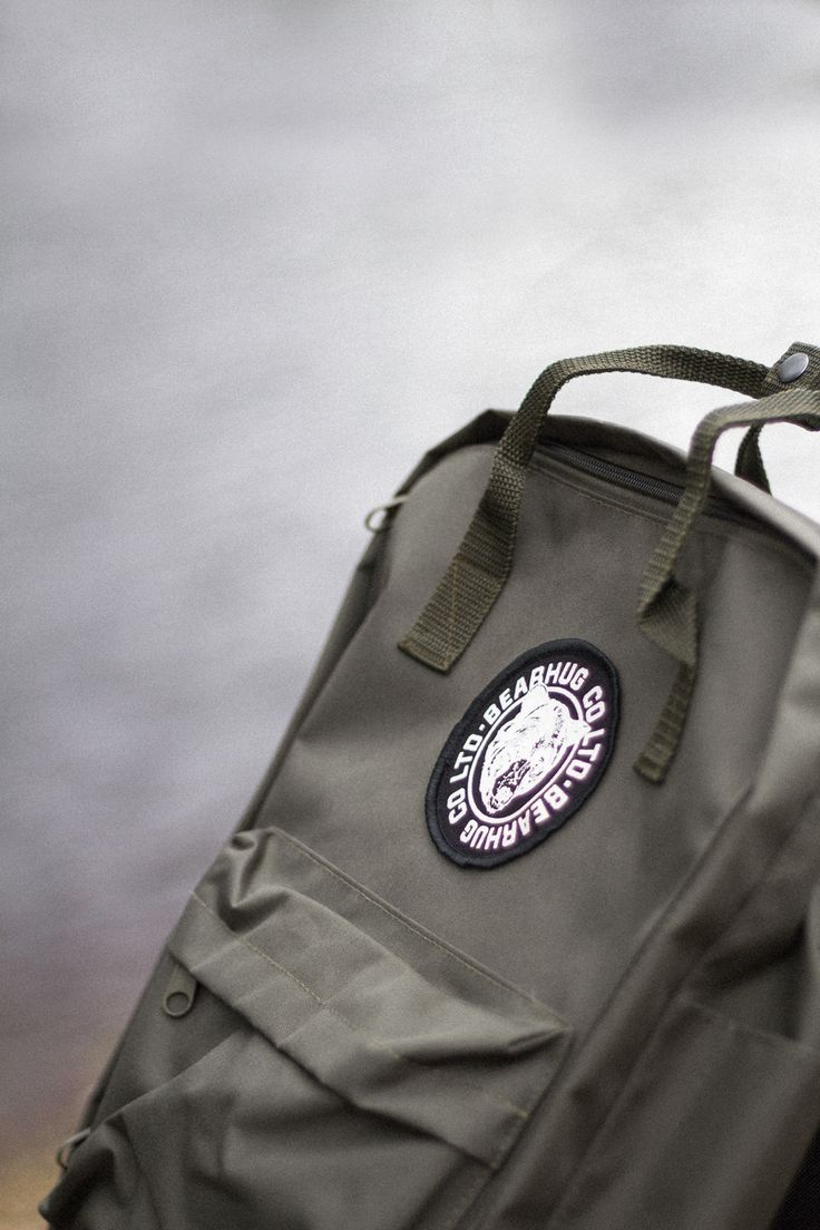 Our Green Backpack is now available along with 2 other colours! - Featuring inside computer sleeve and Bearhug Patch.