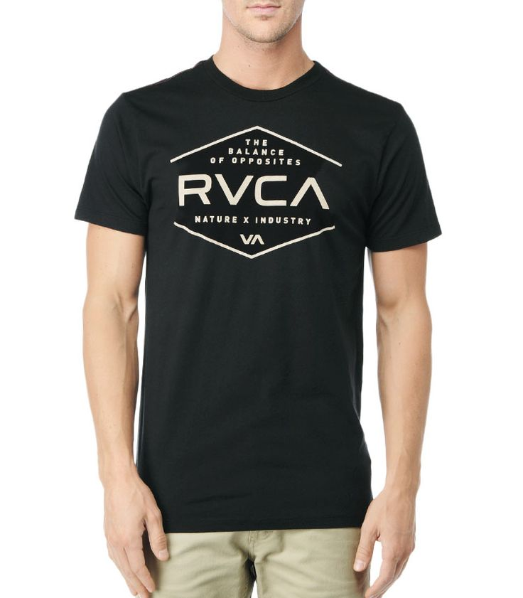 NATURE x INDUSTRY RVCA Mens : Tees / Tanks - Rvca Pure $27