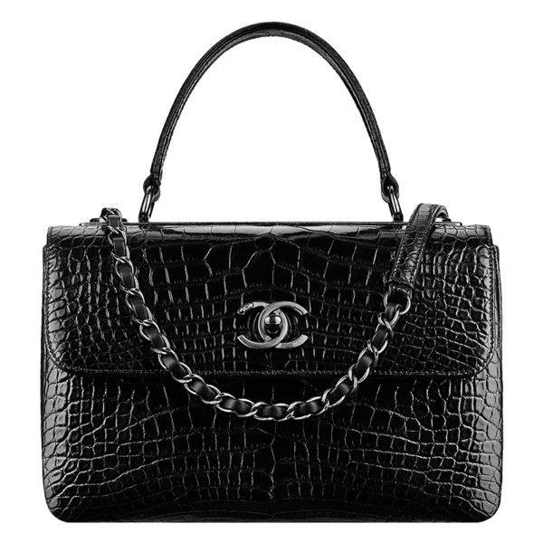 flap bag ❤ liked on Polyvore featuring bags, handbags, bolsa, chanel, chanel bag, black purse, metallic handbags, alligator purse, embellished handbags and metallic bag