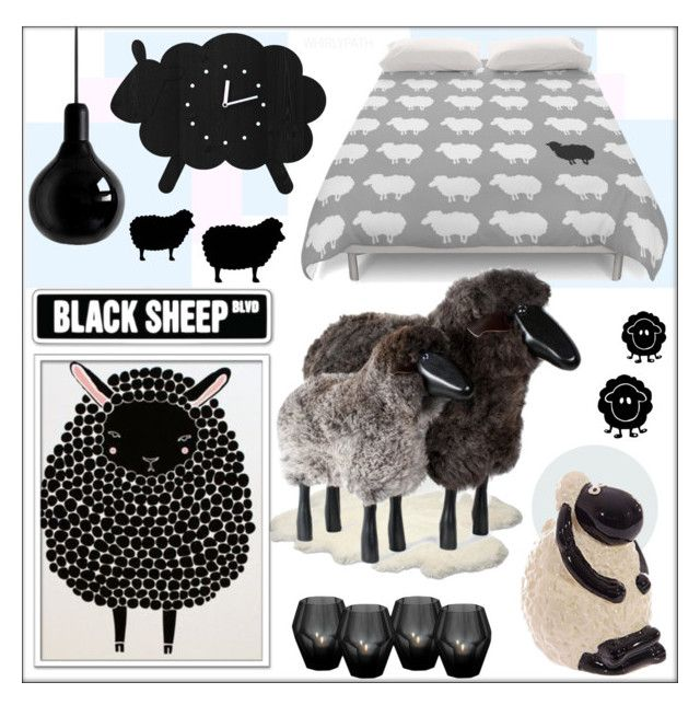 Black Sheep! by whirlypath on Polyvore featuring interior, interiors, interior design, home, home decor, interior decorating, Mineheart, UGG Australia, Eichholtz and bedroom