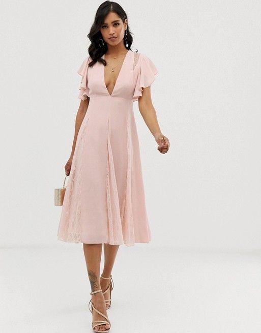 asos roze jurk