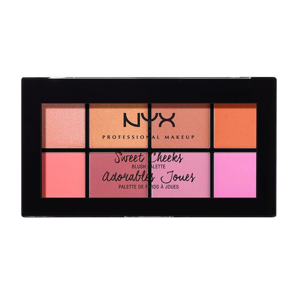NYX - NEW Sweet Cheeks Blush Palette - amazing blush palette with all the colors you would ever need in one palette!! Colors are dense and beautiful with every color combination needed.